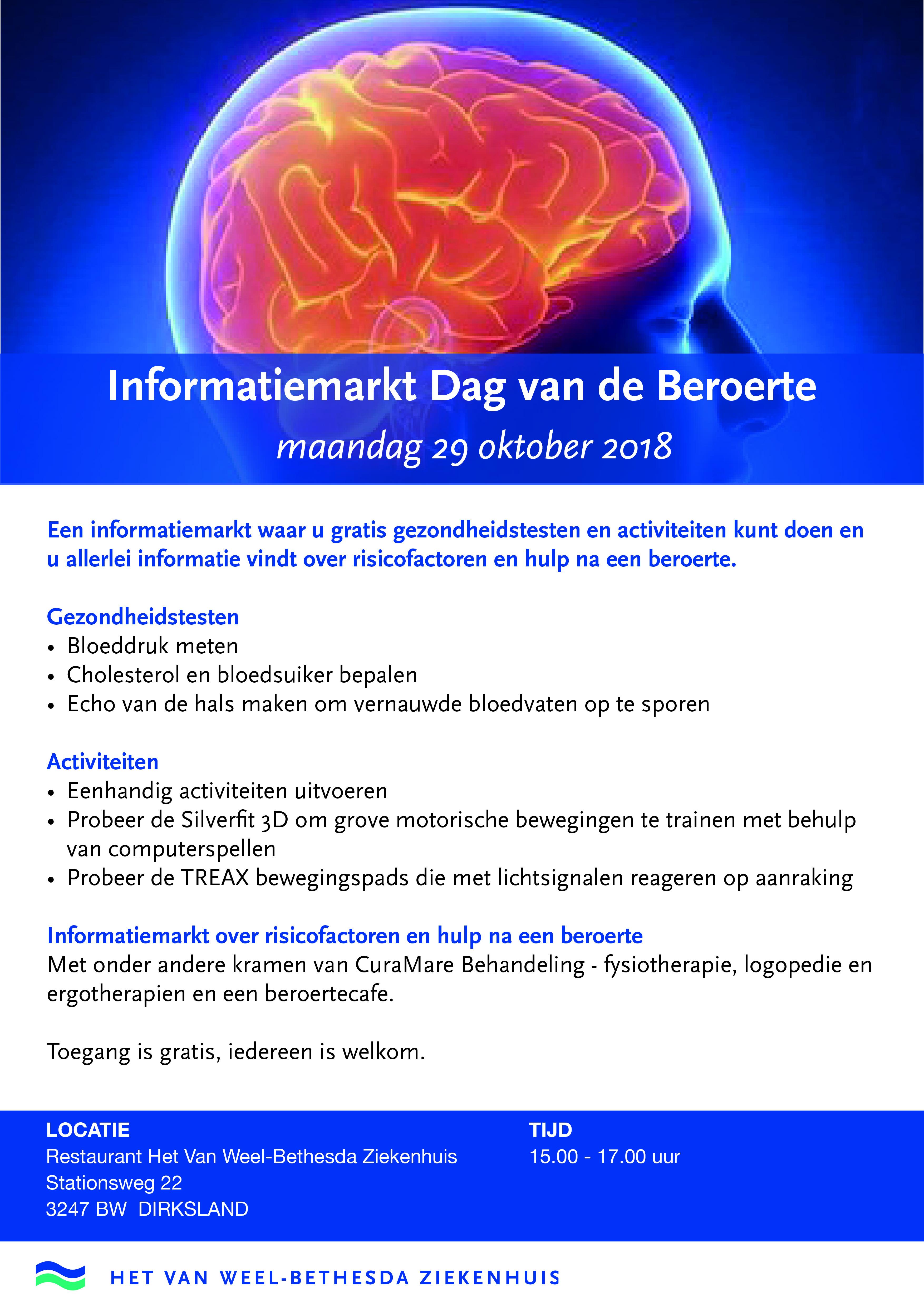 Informatiemarkt Dag van de beroerte